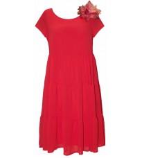 Яркое свободное платье с брошью RINASCIMENTO 78834