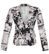 Розовый пиджак с принтом RINASCIMENTO 85036