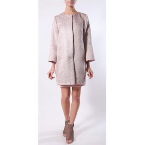 Розовое прямое пальто RINASCIMENTO 85434