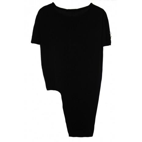 Черный асимметричный джемпер RINASCIMENTO 8560