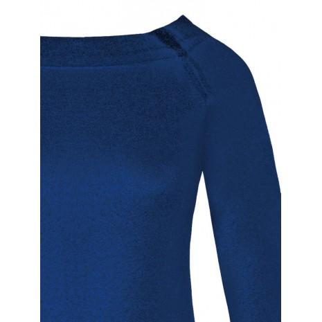 Синий джемпер с напылением RINASCIMENTO 8599