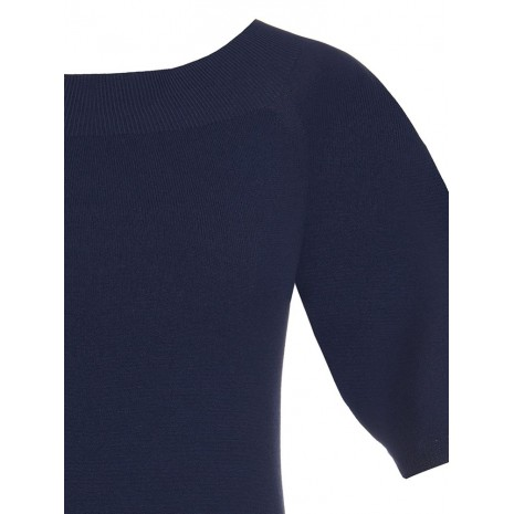 Синий джемпер с короткими рукавами RINASCIMENTO 8628