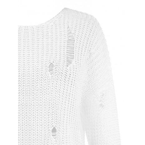 Стильный белый джемпер RINASCIMENTO 8644