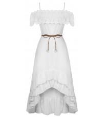 Белое платье с кружевом RINASCIMENTO 86751