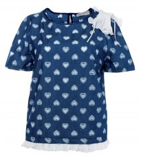 Синяя блуза с декором RINASCIMENTO 86080