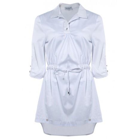 Белая блуза с поясом RINASCIMENTO 86079