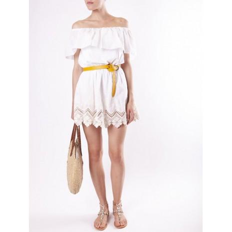 Белое платье с кружевом RINASCIMENTO 15872