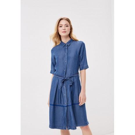 Синее платье на пуговицах с поясом RINASCIMENTO 85880