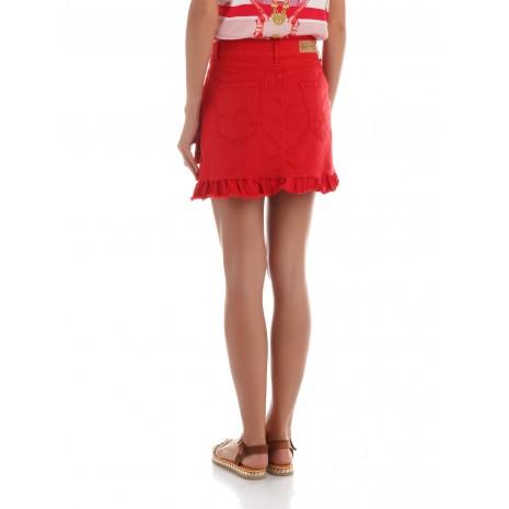 Красная юбка с оборкой RINASCIMENTO 86446