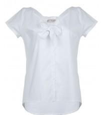 Белая блуза с бантом RINASCIMENTO 86704