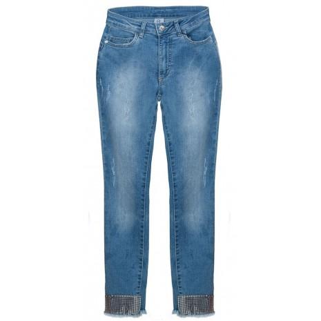 Синие джинсы с декором RINASCIMENTO 85925