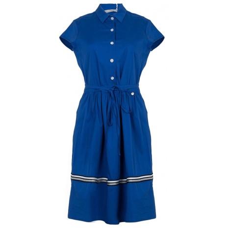 Синее платье с декоративной вставкой RINASCIMENTO 86785