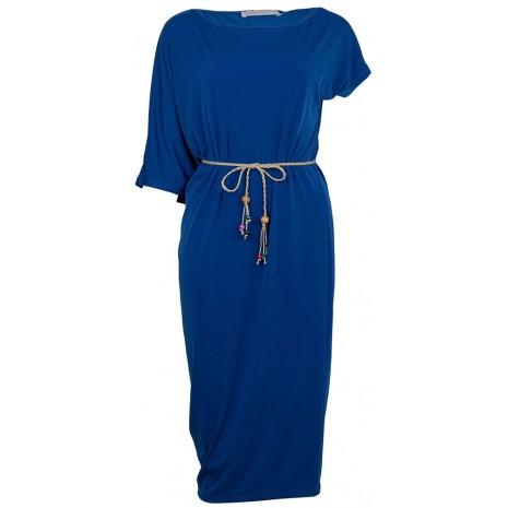 Синее ассиметричное платье RINASCIMENTO 86671