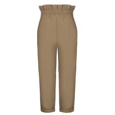 Бежевые брюки с высокой талией RINASCIMENTO 15789
