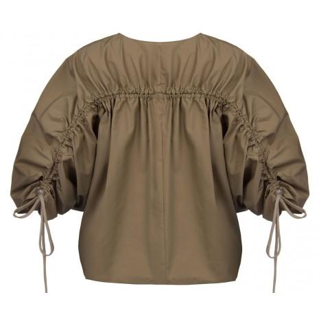 Бежевая блуза с декором на спине RINASCIMENTO 15791