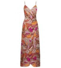 Длинное бежевое платье с принтом RINASCIMENTO 15796