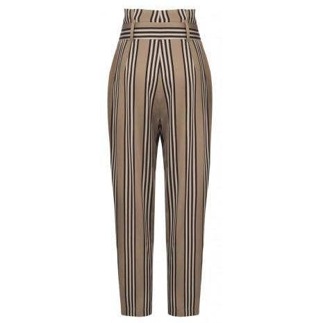 Бежевые брюки в полоску RINASCIMENTO 15805