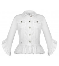 Белая куртка с оборками RINASCIMENTO 86438