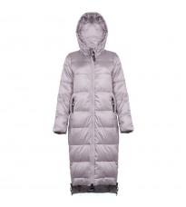 Серое стеганное пальто с капюшоном RINASCIMENTO 86275