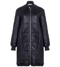 Черное стеганное пальто RINASCIMENTO 88568