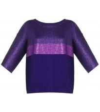 Фиолетовый джемпер с напылением RINASCIMENTO 8770