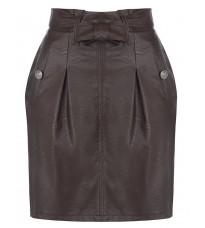 Коричневая кожаная юбка RINASCIMENTO 87926