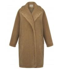 Бежевое прямое пальто RINASCIMENTO 87946