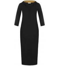 Черное платье с капюшоном RINASCIMENTO 88121