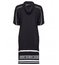 Черное прямое платье с контрастными вставками RINASCIMENTO 88454
