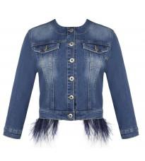 Джинсовая куртка с перьями RINASCIMENTO 84670