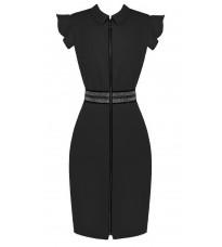 Черное платье с блестящей вставкой RINASCIMENTO 85079