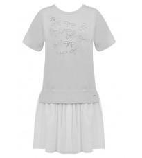 Серое платье с декором RINASCIMENTO 85189