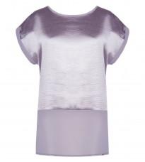 Атласная серая блуза RINASCIMENTO 85191