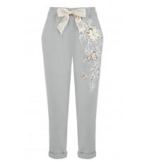 Серые брюки с вышивкой RINASCIMENTO 85199
