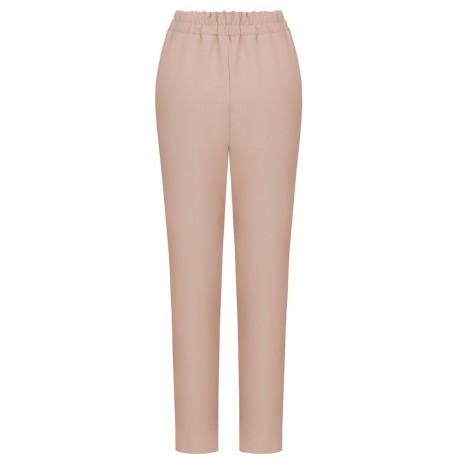 Розовые прямые брюки с поясом RINASCIMENTO 85975