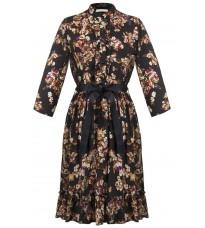 Черное платье с принтом RINASCIMENTO 16145