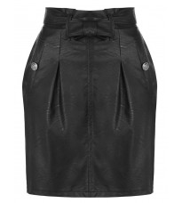 Черная кожаная юбка RINASCIMENTO 87926