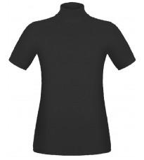 Черный джемпер с короткими рукавами RINASCIMENTO 8836