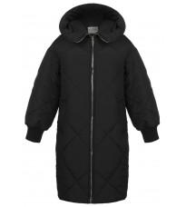 Черное стеганное пальто RINASCIMENTO 89099