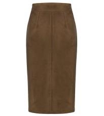 Коричневая юбка на молнии RINASCIMENTO 89126