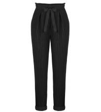 Черные брюки в полоску RINASCIMENTO 89214
