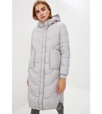 Удлиненная серая куртка с капюшоном RINASCIMENTO 86274