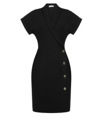 Черное платье с пуговицами RINASCIMENTO 88190
