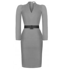 Серое платье с поясом RINASCIMENTO 89901