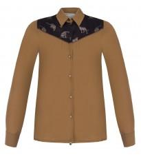 Бежевая блуза с декором RINASCIMENTO 90036