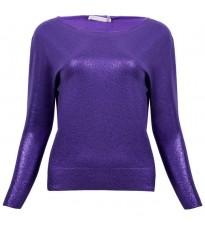 Фиолетовый джемпер с напылением RINASCIMENTO 8978