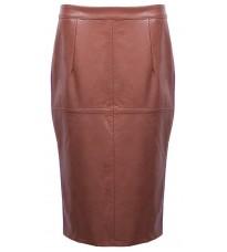 Коричневая юбка со вставками RINASCIMENTO 88138