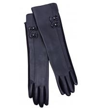Черные удлиненные перчатки Rinascimento 11756