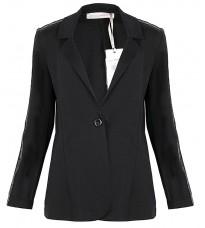 Черный пиджак с декором на рукавах RINASCIMENTO 89518