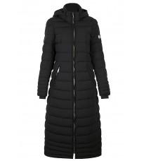Черное длинное стеганное пальто RINASCIMENTO 87340